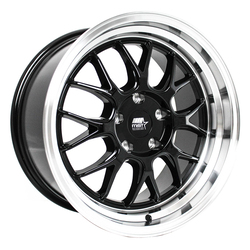 MST Wheels MT43 - Black w/ Machined Lip Rim