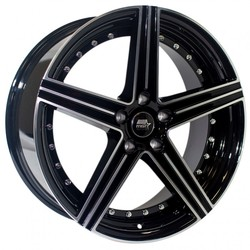 MST Wheels Spectrum - Glossy Black w/Machined Face