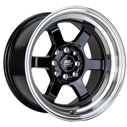 MST Wheels Time Attack - Black w/Machined Lip