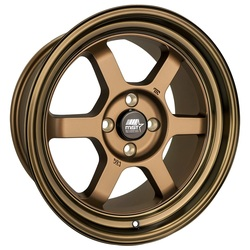 MST Wheels Time Attack - Matte Bronze w/Bronze Machined Lip Rim - 15x8