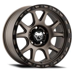 Mamba Wheels M27 - Matte Bronze / Black Lip Rim