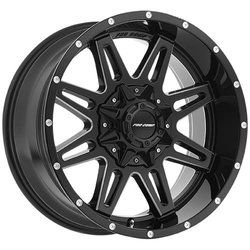 Pro Comp Wheel Series 42 Blockade - Gloss Black / Milled
