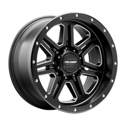 Pro Comp Wheel Series 62 Apex - Satin Black / Milled