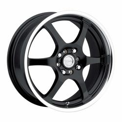 Raceline Wheels 126 - Black with MIrror Lip - 14x5.5