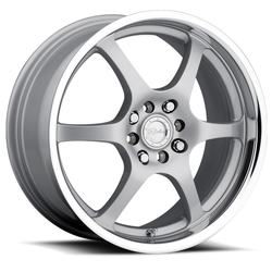 Raceline Wheels 126 - Silver with Mirror Lip - 14x5.5