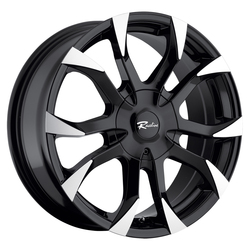 Raceline Wheels 198B Vector - Black with Machined Accents