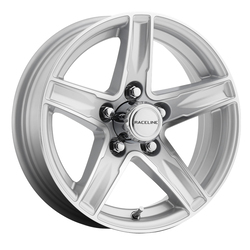 Raceline Wheels Raceline Wheels 810 Stylus Trailer - Silver - 15x6