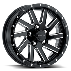 Raceline Wheels 820 Twisted Trailer - Black & Milled Rim - 15x5