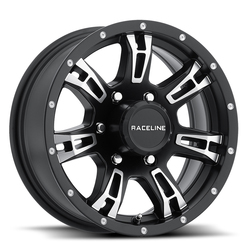 Raceline Wheels 840 Arsenal Trailer - Black Machined Rim - 15x5
