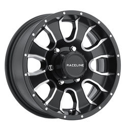 Raceline Wheels 860M Mamba Trailer - Black Machined Rim - 14x6