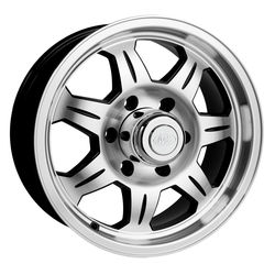 Raceline Wheels 870 Element Trailer - Black & Machined Face Rim - 15x5