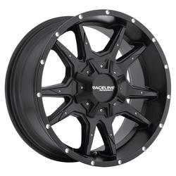 Raceline Wheels 912B Cobra-Black - Satin Black Rim