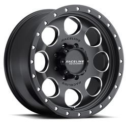 Raceline Wheels 925M Havoc-Black - Black with Milled Spoke Rim