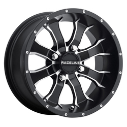 Raceline Wheels A77 Mamba ATV/UTV - Black with Machined Accents - 14x7