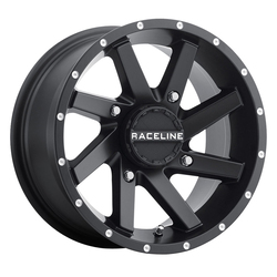Raceline Wheels A82B Twist ATV/UTV - Black - 14x7