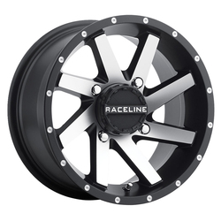 Raceline Wheels Raceline Wheels A82M Twist ATV/UTV - Black with Machined Face - 14x7