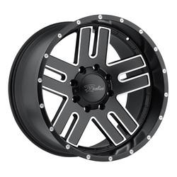 Raceline Wheels 601 Flow Form Magnitude - Black Milled Rim