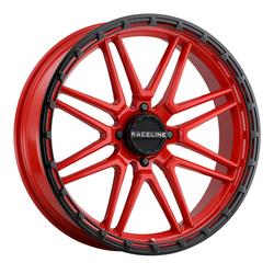Raceline Wheels A11R Krank XL - Red/Black Rim