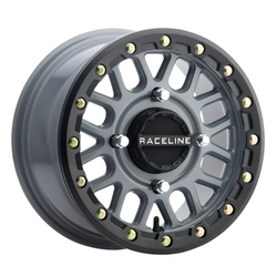 Raceline Wheels A93SG Podium - Stealth Grey True Beadlock Rim