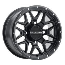 Raceline Wheels A94B Krank - Black Simulated Beadlock Rim - 14x7