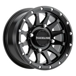 Raceline Wheels A95B Trophy - Black Simulated Beadlock Rim - 14x7