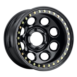 Raceline Wheels RT81 Rock 8 Beadlock - Black Rim
