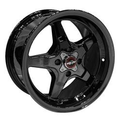 Racestar Wheels 91 Drag Star Four Lug - Black Chrome Rim