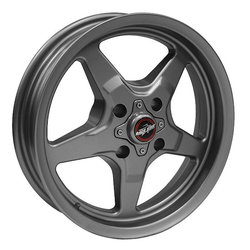 Racestar Wheels 91 Drag Star Four Lug - Metallic Gray Rim