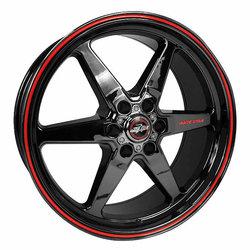 Racestar Wheels 93 Truck Star - Black Chrome Rim
