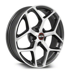 Racestar Wheels Racestar Wheels 95 Recluse - Metallic Gray with Machined Face - 18x10.5