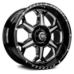 Rebel Wheels Rebel Wheels 101 Fortress - Gloss Black Machined