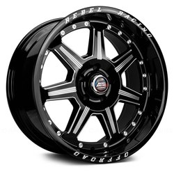 Rebel Wheels Rebel Wheels 102 Phantom - Gloss Black Machined