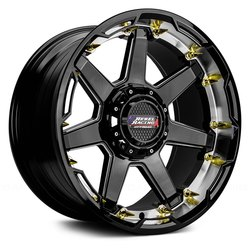 Rebel Wheels Rebel Wheels 104 Scorpion-Black - Gloss Black Machined