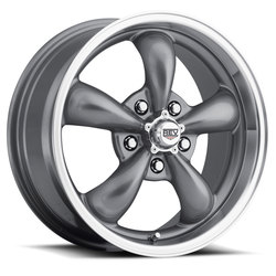 Rev Wheels 100 Classic - Anthracite / Polished Lip Rim - 17x7