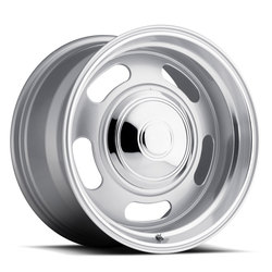 Rev Wheels 107 Classic Rally - Silver Rim - 17x7