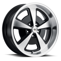 Rev Wheels 109 Classic Magnum - Black / Machined Rim - 17x7