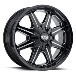 Rev Wheels 823 Offroad - Gloss Black / Milled