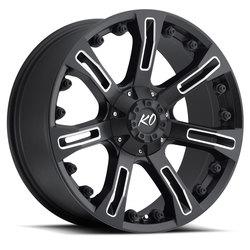 Rev Wheels 840 Offroad - Matte Black / Milled Rim