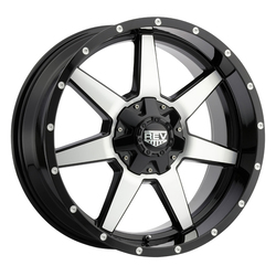 Rev Wheels 875 Offroad - Gloss Black / Machined Rim - 20x9