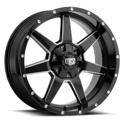 Rev Wheels 875 Offroad - Gloss Black / Milled