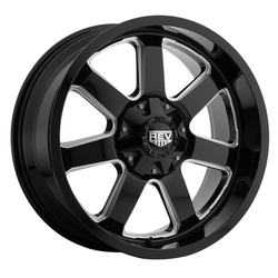 Rev Wheels Rev Wheels 885 Offroad - Gloss Black/Milled - 17x9