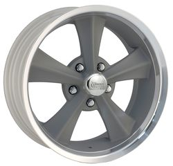 Rocket Racing Wheels Booster - Gray Paint Center / Machined Lip Rim - 18x7