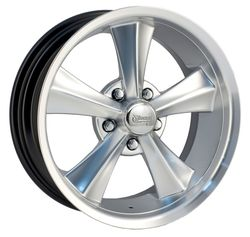 Rocket Racing Wheels Booster - Hyper Silver Paint Center / Machined Lip Rim - 18x7