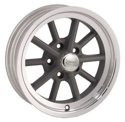 Rocket Racing Wheels Launcher - Gray Paint Center / Machined Lip Rim - 15x4.5