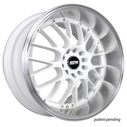 STR Racing Wheels STR 514 - White Machine Lip Rim