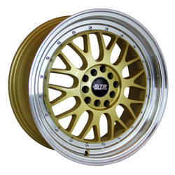STR Racing Wheels STR 601 - Gold Machine Lip Rim