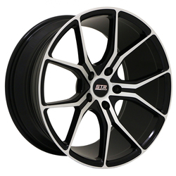 STR Racing Wheels STR 602 - Black Machine Face Rim