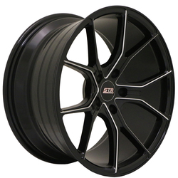 STR Racing Wheels STR 602 - Gloss Black Milled
