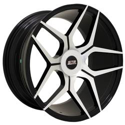 STR Racing Wheels STR 603 - Black Machine Face Rim