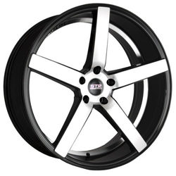 STR Racing Wheels STR 607 - Black Machine Face Rim